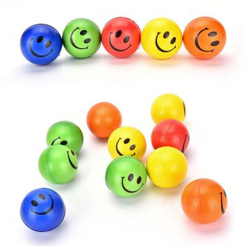 1PCS CUTE Smiley Face Anti Stress Reliever Ball For Kids Autism Mood Toys Squeeze Relief For Children Balls Toy