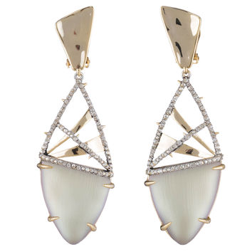 Crystal Encrusted Plaid Clip Earring | Alexis Bittar
