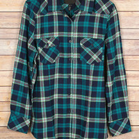 Teal Plaid Shirt