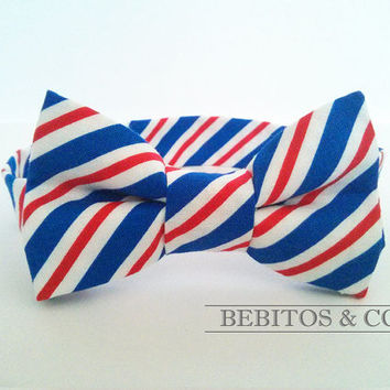 Boys Bow Tie,  Red White and Blue Bow Tie, Preppy Bow Tie, Bowtie, Boy's bow tie