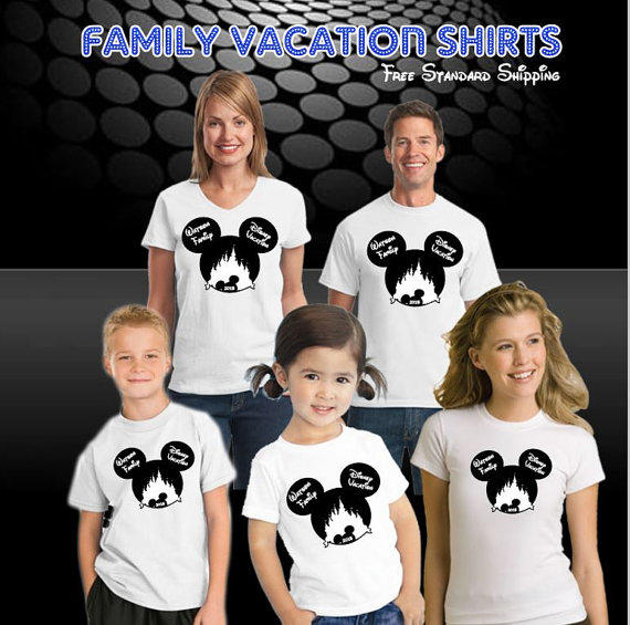 Disney vacation pirate family shirts from pinkstarcustomdesign on