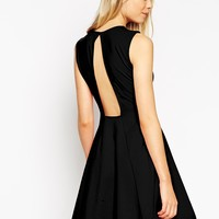 ASOS Sleeveless Skater Dress with Cut Out Back Detail