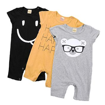 Baby Boy Clothes Summer Baby Rompers 2017 Newborn Baby Clothes Cartoon Baby Girl Clothes Infant Jumpsuits Kids Clothes