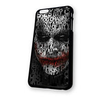 Batman Joker clown Typograph art iPhone 6 case