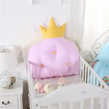 Crown Shape Baby Bed Head Protection Crib Bumper Baby Bedding Set Princess Style Pink Blue Cute Design Bumpers For Baby Kids