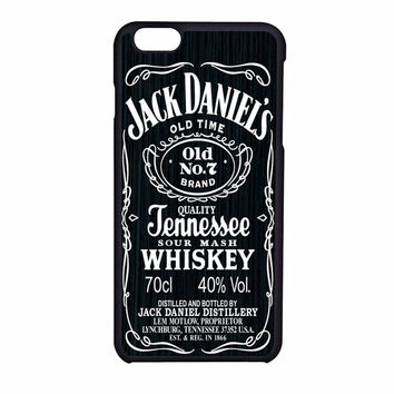 Jack Daniels On Black Wood Iphone 6S Case
