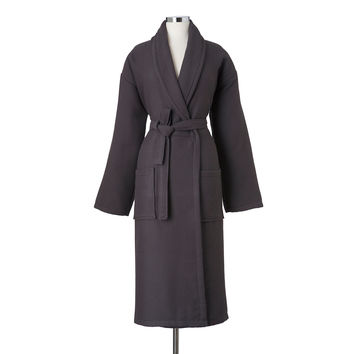 Unisex Waffle Terry Robe, Charcoal, Shower Wraps