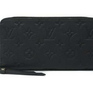 LOUIS VUITTON Zippy Wallet Round Purse M61864 Monogram Empreinte leather Noir