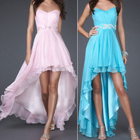 High-Low Bridesmaid Birthday Graduation Pageant Quinceanera Prom Party Dress