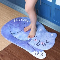 Bathroom Mat Tea Table Bibulous Antiskid False Sleeping Cat Washable Kitchen Carpet Bath Mat Bathroom Products Carpet Doormat