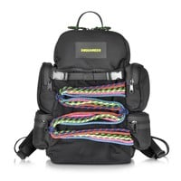 DSquared2 Small Black Fabric Backpack
