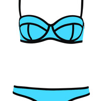 Swingy Ribbon Textured Bikini Swimsuit - OASAP.com