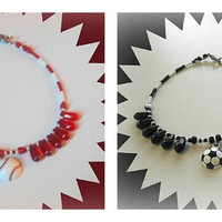 PICK 1 Sports Anklet,Baseball or Soccer,Baseball Fan,Soccer Fan,Baseball Fan,Ready to Ship,Direct Checkout