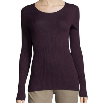 Mirzi Long-Sleeve Ribbed Sweater, Size: