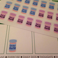 Set of 42 Pre-cut Prescription Stickers   - Perfect for your planner or scrapbook