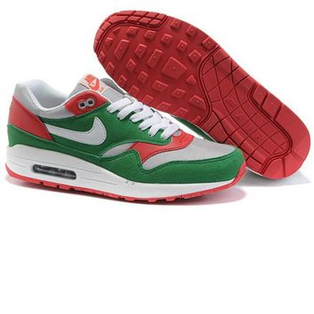 """NIKE"" Fashion Women/man Running Sport Casual Shoes Sneakers green-red"