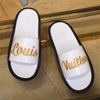 shosouvenir :LOUIS VUITTON:LV  Casual Fashion Women Man Sandal Slipper Shoes