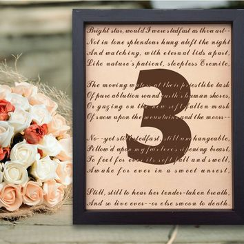 Lik76 Leather Engraved Wedding Third Anniversary gift three years personalized gift love poem