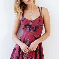 Floral printed Strappy Chiffon Dress