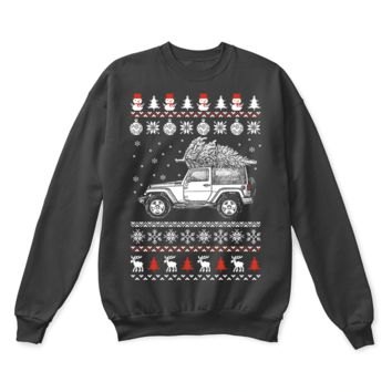 PEAPINY Jeep Patriot Brings Christmas Home Ugly Sweater