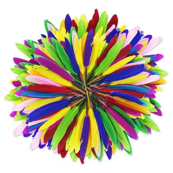 Up To 500 Vibrant Color Dip Dyed Feathers