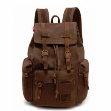 Vintage Travel Canvas Rucksack/Backpack - Multiple Colors Available!