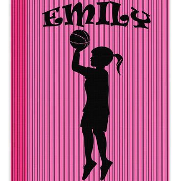 Girl Custom Silhouette I Canvas Wall Art