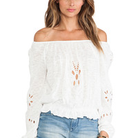 Free People FPX Jewel Top in White