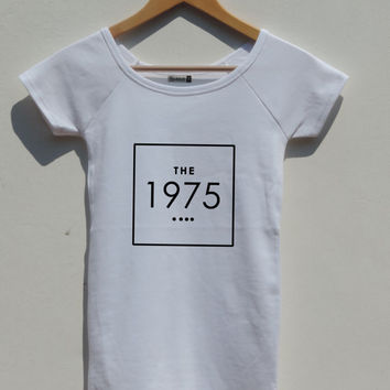 The 1975 band shirt Boat Neck fitted Blue shirt For women, Matty healy shirt chic indie rock the 1975 Top