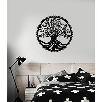 Vinyl Wall Decal Celtic Tree Of Life Nature Symbol Family Talisman Stickers (3748ig)