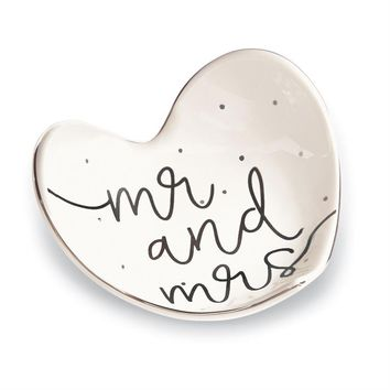 Mr And Mrs Trinket Dish By Mud Pie