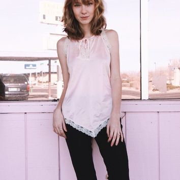 Baby Pink Lace Tank