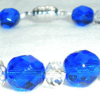 Doctor Who Inspired Blue White and Black Bracelet