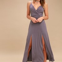 Time to Tango Dusty Purple Midi Dress