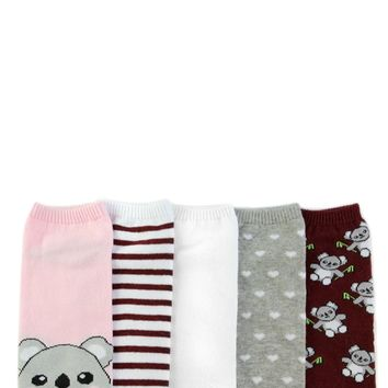 Koala Ankle Socks - 5 Pack