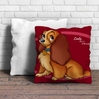 Lady and The Tramp Disney Dog Cartoon Pillow | Aneend