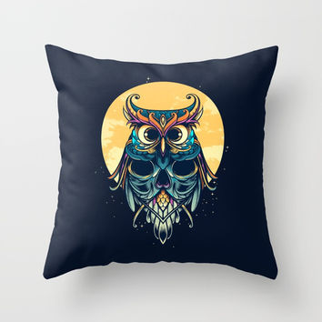 Nightwatcher Throw Pillow by Angoes25