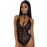 Feitong Fashion Sexy Lingerie	Women Sexy Lace Sheer Bodysuit	Backless Body Suits For Women Swimsuit Bodysuit