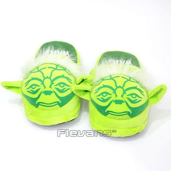 Hot New Star Wars Yoda / Darth Vader Adult Plush Slippers Shoes Soft Stuffed Toys Dolls 2 Styles