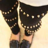 studded legging from mancphoebe
