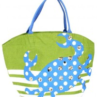 Green Crab Sequin Tote | Monday Dress Boutique
