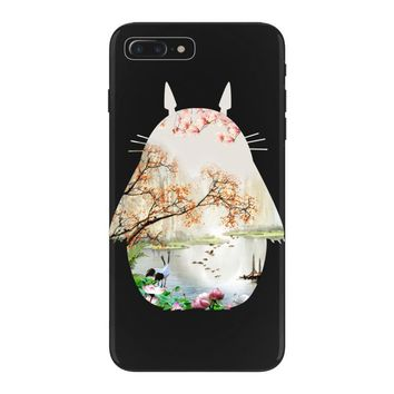 Totoro With Japanese Landscape iPhone 7 Plus Case