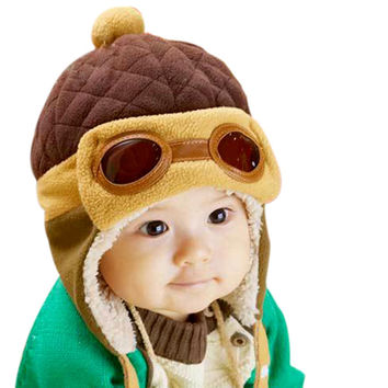 Retail Cheap Toddlers Cool Baby Boy Girl Kids Infant Winter Pilot Warm Cap Bomber Hat