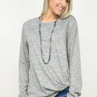 Tying The Knot Long Sleeve Shirt Top