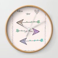 Follow Your Heart Wall Clock by sm0w
