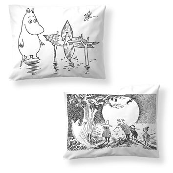 Moominpappa's Memoirs pillow cover 2-pack by Finlayson