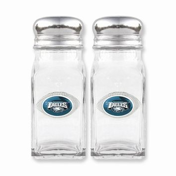 NFL Eagles Glass Salt and Pepper Shakers - Etching Personalized Gift Item