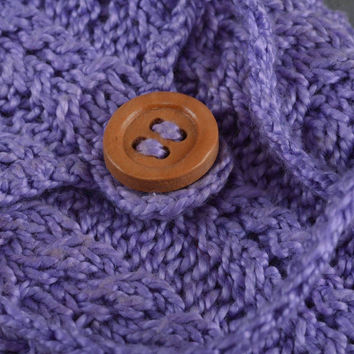 Crocheted handmade phone case purple beautiful stylish accessory for cell phone