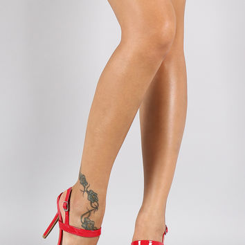 Wild Diva Lounge Patent Two Strap Heel