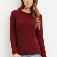 Textured Ribbed Knit Sweater
